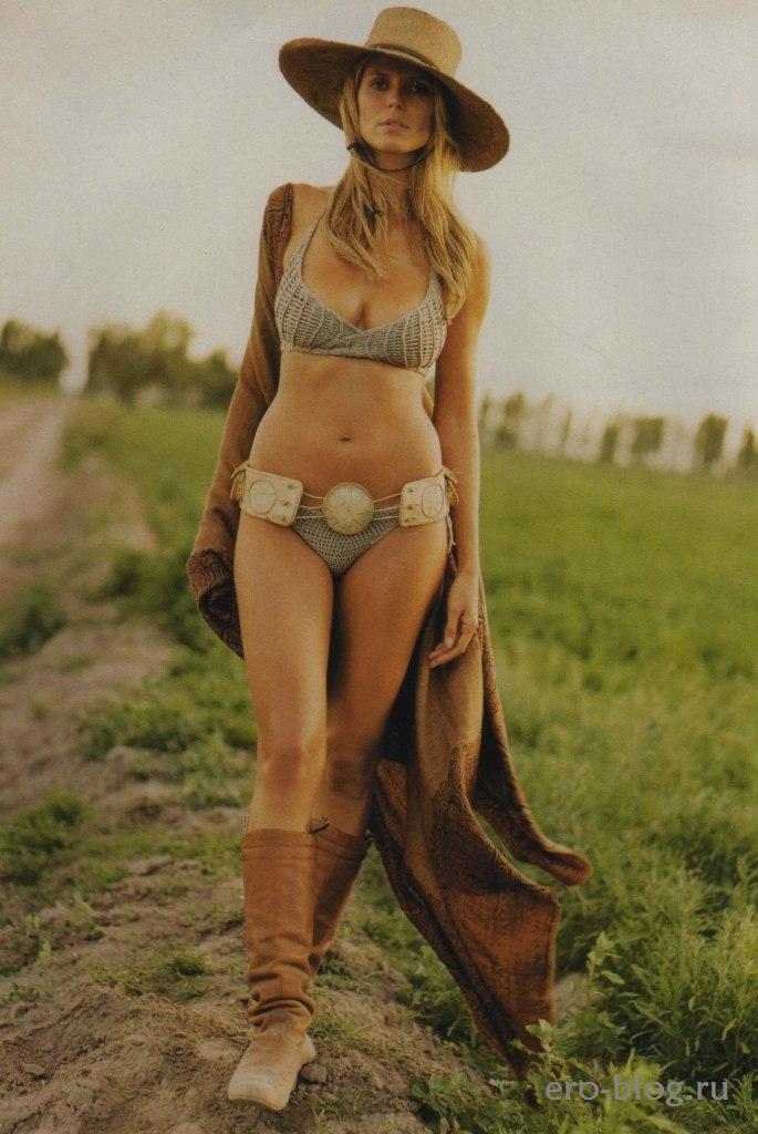 Голая обнаженная Heidi Klum | Хайди Клум интимные фото звезды