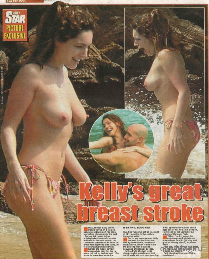 Голая обнаженная Келли Брук интимные фото звезды