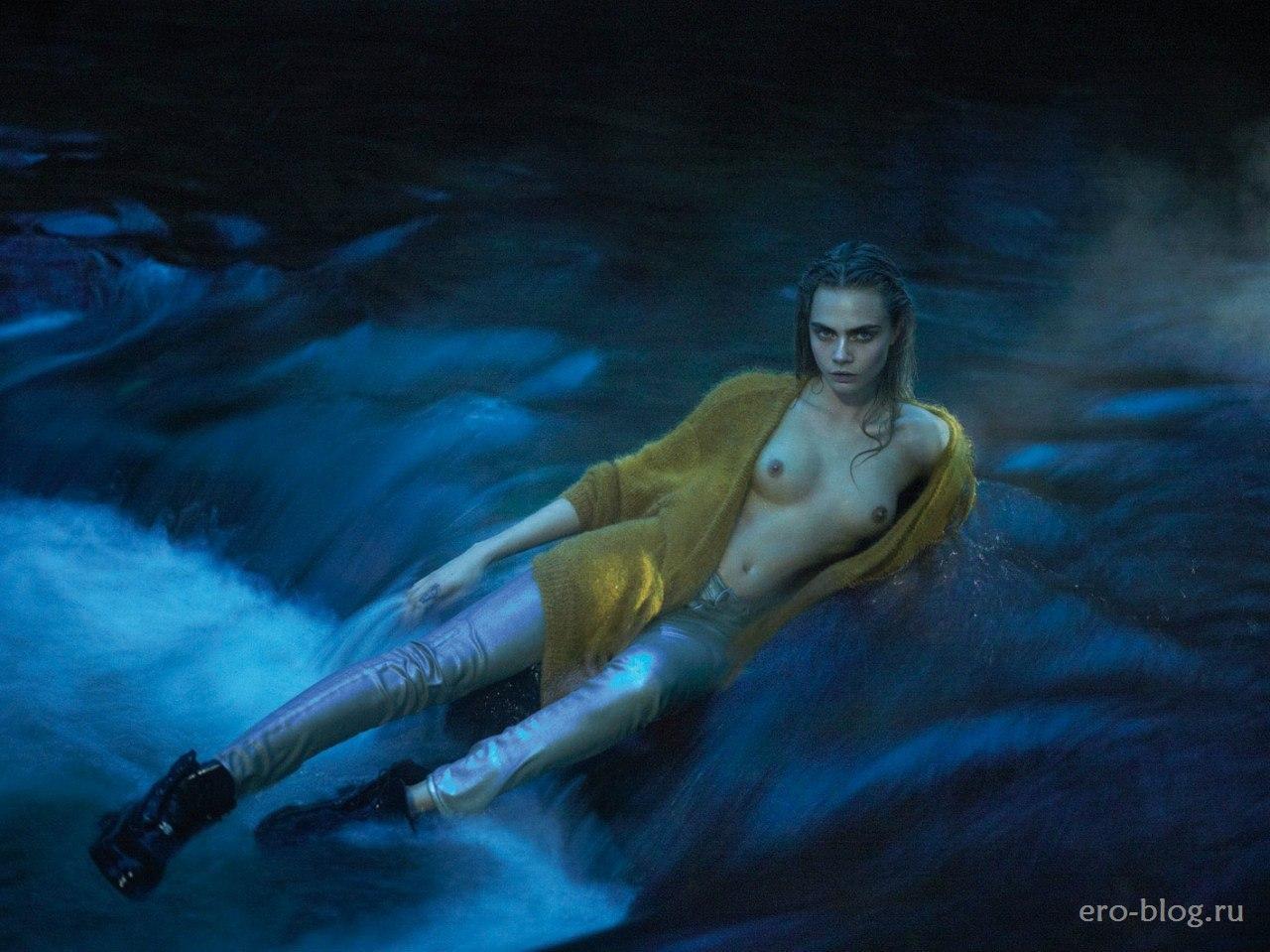 Голая обнаженная Cara Delevingne | Кара Делевинь интимные фото звезды