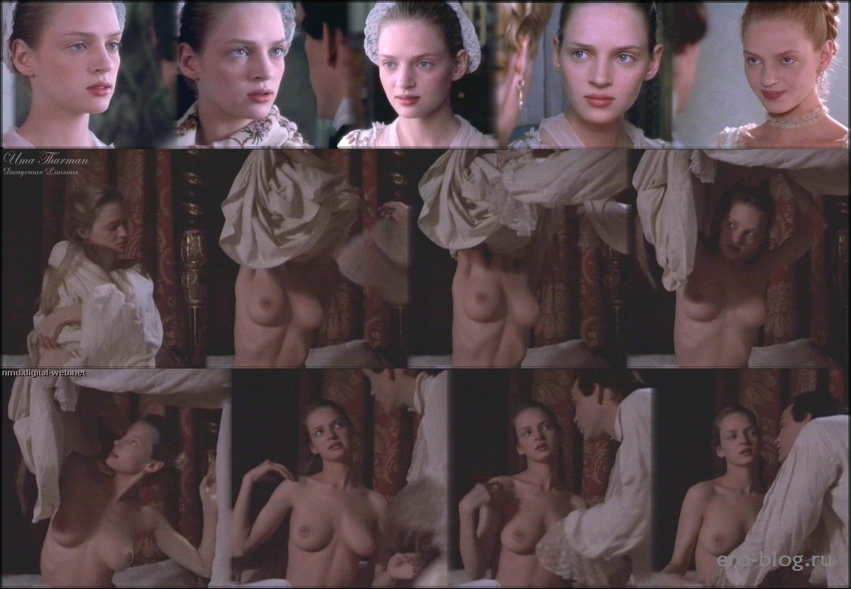 Голая обнаженная Uma Thurman | Ума Турман интимные фото звезды