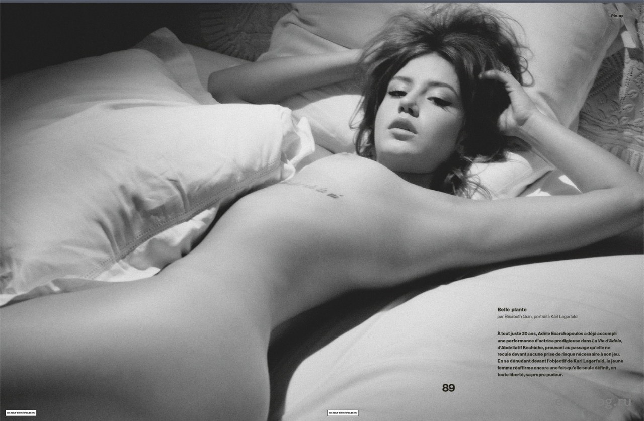 Голая обнаженная Adele Exarchopoulos | Адель Экзаркопулос интимные фото звезды