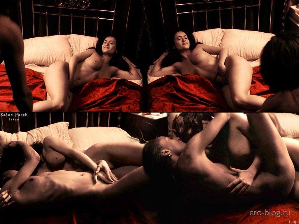 Голая обнаженная Сальма Хайек интимные фото звезды