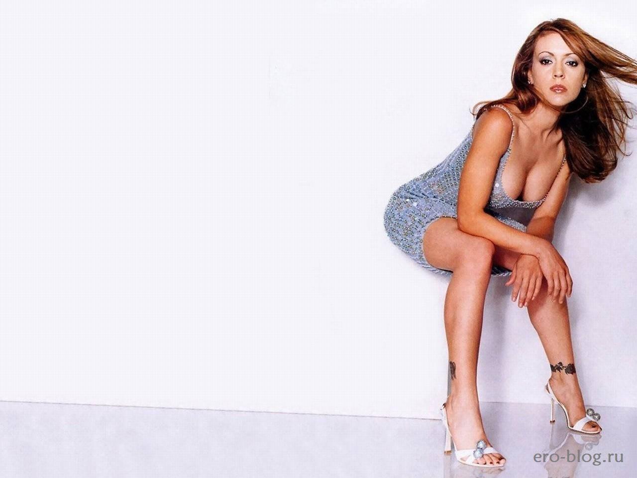 Голая обнаженная Алисса Милано интимные фото звезды
