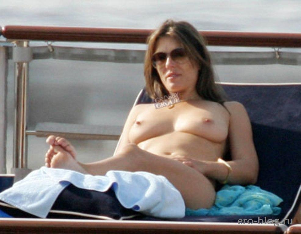 Голая обнаженная Элизабет Хёрли интимные фото звезды