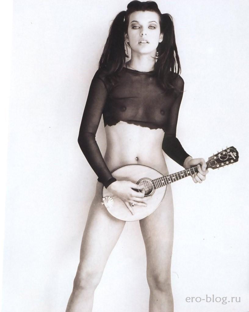 Голая Milla Jovovich фото, Обнаженная Милла Йовович
