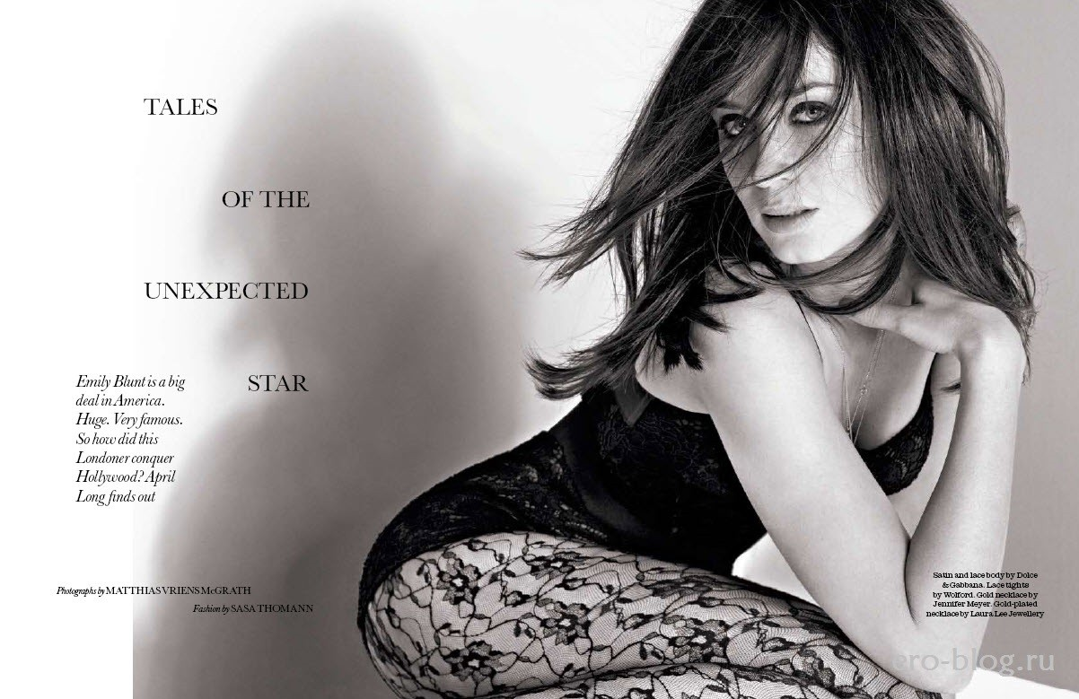 Голая обнаженная Эмили Блант интимные фото звезды