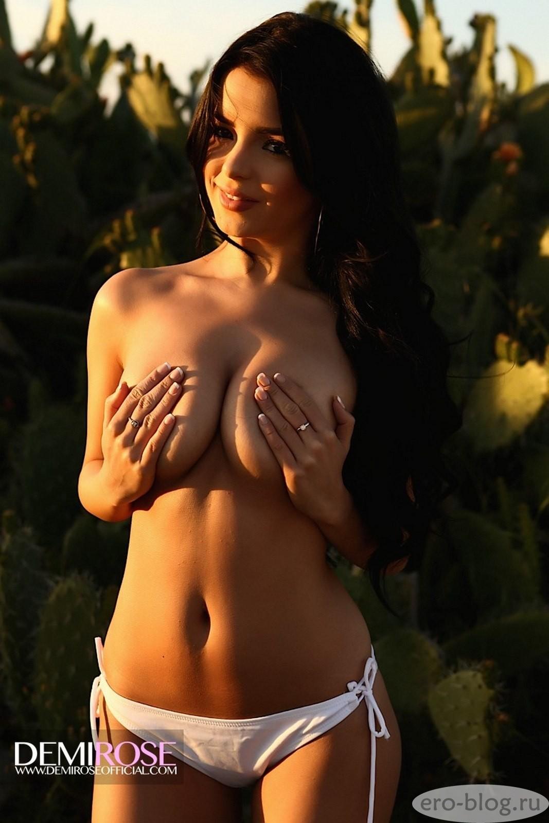 Голая обнаженная Деми Роуз интимные фото звезды